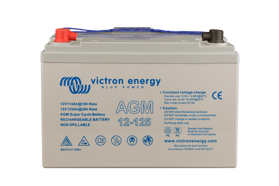 Victron Energy SUPER CYCLE AGM 125Ah-12V